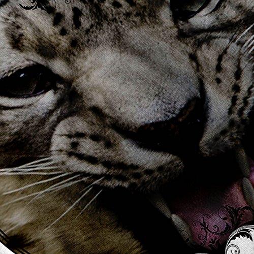 Leopard Tier Auge Tier Groß Katze Gesicht Damen S-2XL Muskelshirt   Wellcoda Weiß