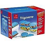 Bormioli Rocco Frigoverre Set of 5Glass Food Storage Container Transparent 388840-SK5 Transparent