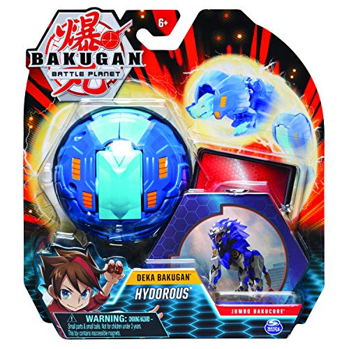 BAKUGAN 6051238 Deka, Nillious, Jumbo Collectible Transforming Figure for Ages 6 and Up, Multi-Coloured