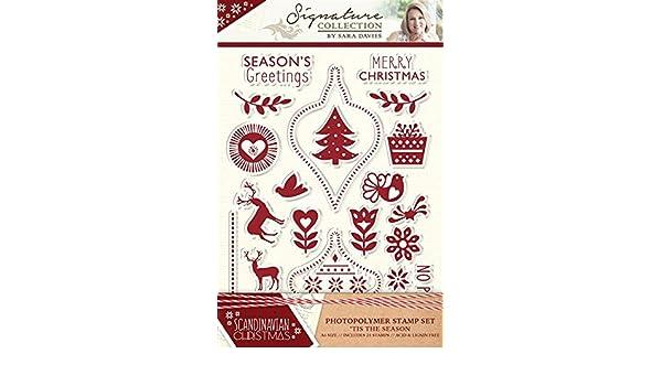 Sara Davies Sammlung Skandinavisch Weihnachten Schablonen Stempel oder Ordner