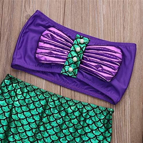 Kostüm Sexy Meerjungfrau Kleine - Macxy - Sexy Kostüme für Babys Prinzessin Ariel Kleid Die Kleine Meerjungfrau Ariel Prinzessin Cosplay Kostüm Meerjungfrau Kleid [3T]