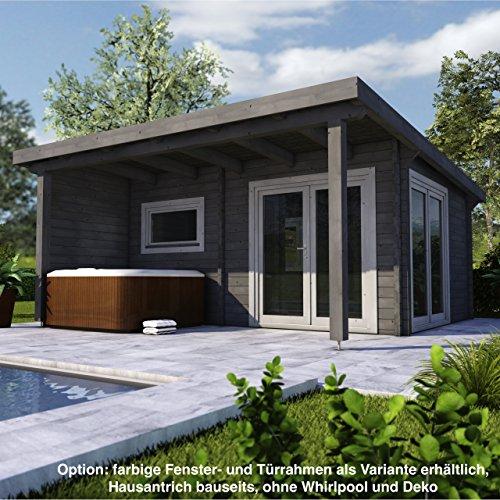 Infraworld Poolhaus Living 1 Größe 505 x 385 cm in nord. Fichte 391050 exklusive Ausführung