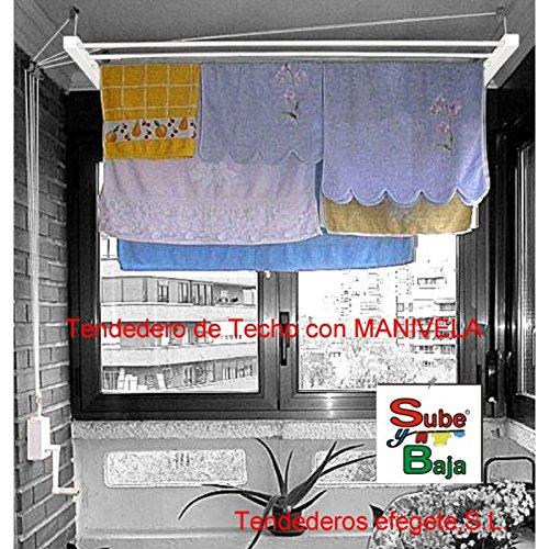 Tendederos Efegete - Tendedero Techo Manivela 1