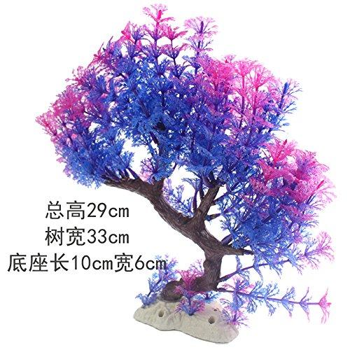 acquario di giardinaggio decorazione acquario acquario giardini d'acqua di fiori finti piscina corallo albero finto prato,violet