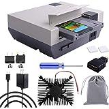 owootecc RETROFLAG NESPi 4-fodral, Raspberry Pi 4-fodral med SSD-fodral, USB-C-strömförsörjning med UK-kontakt, HDMI-splitter