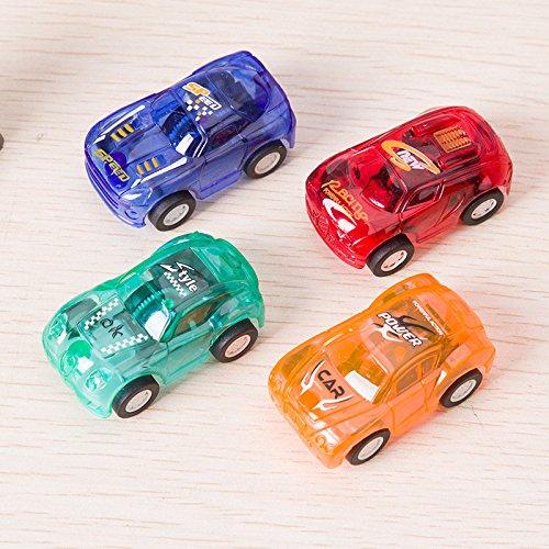 4 PCS Mini ziehen Rennläufer Autos Pull-Back Spielzeug-Autos Mini für Kinder Pull Back Fahrzeuge Farbe Zufällig