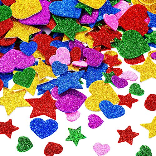 Foam Glitter Stickers Foam Heart...