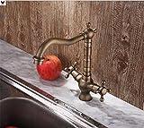 Rubinetto lavello rubinetto in ottone massiccio rubinetto del lavandino tradizionale miscelazione di alcol rubinetto dell'acqua bacino rubinetto miscelatore lavello rotante miscelatore lavello