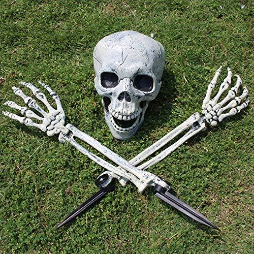 JNTM Halloween Skelett Horror begraben lebendig Garten Hof Rasendekoration gruselig Friedhof Ground Breaker Skelett für Halloween Dekorationen für Haus, Garten, Hof, Veranda, Bar (Friedhof Zombie Kostüm Kit)