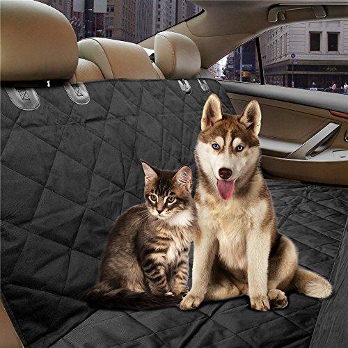 Preisvergleich Produktbild Wasserdichte Haustier Sitzbezüge - Große Rücksitzkissen mit Sitzankern für Autos, Trucks und SUV - Maschinenwaschbar, rutschfest