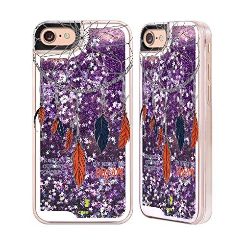 Head Case Designs Rêve Plus Haut Attrape- Rêves Étui Coque Liquide Scintillez Pourpre pour Apple iPhone 6 / 6s Rêve Aujourd'hui