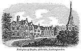 John Dryden (1631-1700). /Nenglish Poet. Dryden'S Birthplace The Vicarage At Aldwinkle Northamptonshire. Line Engraving 19Th Century. Kunstdruck (60,96 x 91,44 cm)