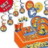 DIE Minions Geburtstag-Deko-Set, 54-teilig zum Kindergeburtstag für Jungen und Mädchen und Minion Motto-Party für 8 Kids