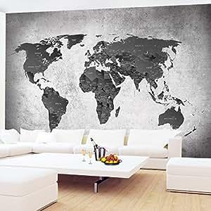 Fototapete Weltkarte 352 x 250 cm - Vliestapete - Wandtapete - Vlies Phototapete - Wand - Wandbilder XXL - !!! 100% MADE IN GERMANY !!! Runa Tapete 9088011c