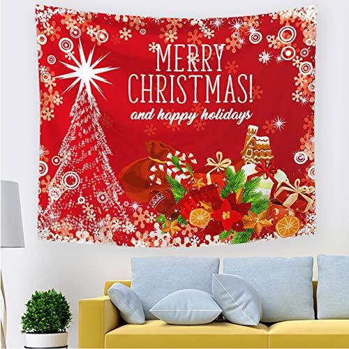 xkjymx Tapisserie d'impression de Noël européenne et américaine 211604 200 * 150CM épais