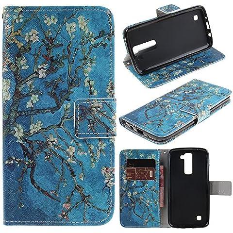 dooki, LG K8móvil, soporte Cartera Flip PU Funda protectora de piel para LG K7con soporte para tarjetas de crédito Ranura,
