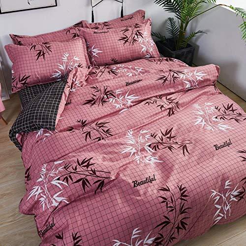 DALIANMAO Einfache superweiche Aloe Baumwolle vierteilige Bettwäsche Student dreiteilig,2,0 cm vierteiliges Set, kk Bambus-Reim -