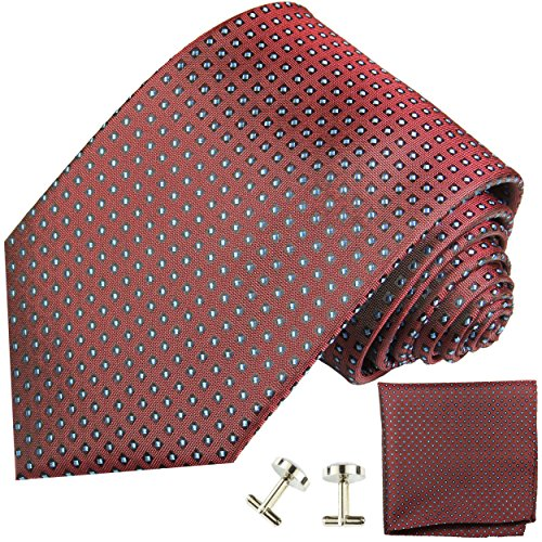 Cravate homme points rouges ensemble de cravate 3 Pièces ( longueur 165cm )