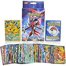 KidsDelight® Pokemon Original EX GX Trading Card Game Rare Gold Pack of 100 Assorted cards with 20pcs GX + 20pcs MEGA + 59pcs EX + 1 piece Energy cards, 2018 Latest Collector's Edition (No Duplication)