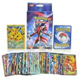 #1: KidsDelight® Pokemon Original EX GX Trading Card Game Rare Gold Pack of 100 Assorted cards with 20pcs GX + 20pcs MEGA + 59pcs EX + 1 piece Energy cards, 2018 Latest Collector's Edition (No Duplication)