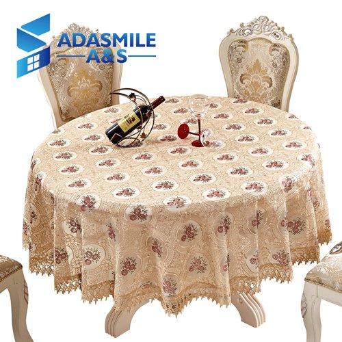 keln Floral Elegante runde Spitze Tischdecke Tischdecke Tischdecke Overlays für Banqute Hochzeitsfeier DecorationbeigeR 220 cm ()