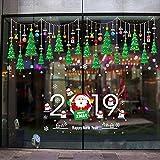 Pegatinas de Navidad para Ventanas, Pegatina de Muñecos de Nieve 2019 Decoración de Navidad Decoración de Decal de Copo de Nieve de Ventana para Decoración de la Pared Escaparate Tienda Hogar Moderno