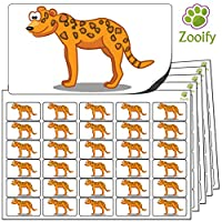 480x Leopard Stickers (38 x 21mm) High Quality Self Adhesive Animal Labels By Zooify.