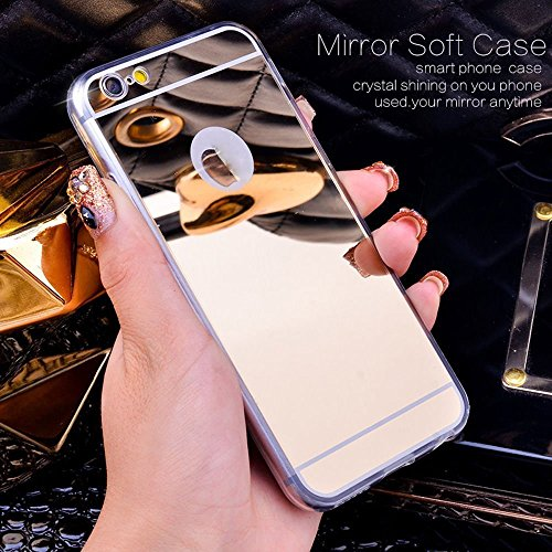 Custodia Cover per iPhone 7 Plus/8 Plus 5.5,KunyFond Lusso Moda Brillantini Glitter Bling Placcatura Custodia Ultra Slim Soft Tpu Silicone Case Cover Scintillare Luccichio Cristallo Morbida Gel Protet rose oro Placcatura