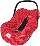Minene Baby Infant Car Seat Universal Protection Cover ( Red With Polka Dots)
