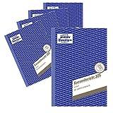 AVERY Zweckform 305-5 Kassenbericht (A5, mikroperforiert, 50 Blatt) 5er Pack weiß