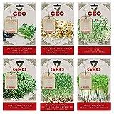 Kit Semi da Germogliare BIO - contiene 6 buste di semi da germogliare 1 busta per tipo di: Girasole, Aglio Orientale, Porro, Crescione e 2 buste di Cavolo Broccolo