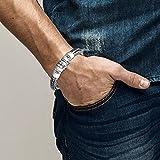 KUZZOI Herren Armband aus massivem 925er Sterling Silber, Breite 11 mm, Länge 19 cm, 335103-019 - 3