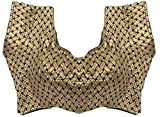 SPHINX Ethnic Golden-Black Criss Cross Pattern Brocade Ready-made Padded Blouse for WomenGirls - 1 Piece ( Check all Images)