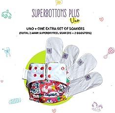 Combo: Cloth Diaper Superbottoms Plus UNO + 1 Extra UNO Soaker Set (1 wash prep)