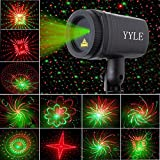 Christmas Projector 24 Patterns Star Lights Shower Effect RF Remote Motion Waterproof IP65