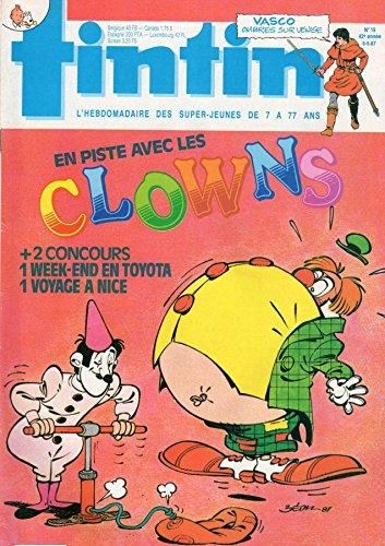 Tintin n° 608 - 05/05/1987 - En piste avec les clowns/2 concours : un week-end en Toyota, un voyage à Nice