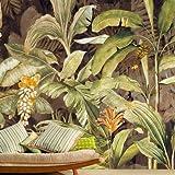HUANGYAHUI Tropische Regenwälder, Dschungel, 3D-Tapeten, Grünen Pflanzen, Große Wandbilder, Coffee Shop, Wohnzimmer, Restaurant Handgemalte Tapeten-120Cmx100Cm
