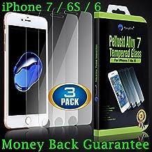 3-pack Premium iPhone 7Plus (6S, 6Plus) 14cm schermo in vetro temperato. Amplim case friendly, anti impronte, anti graffio, 3D touch ultra Clear HD, invisibile copertura frontale film/Shield