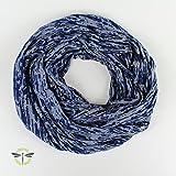 Loop-schal aus besonderem Jersey - blau & grau - perfekt für den Frühling - XXL breit UND leicht