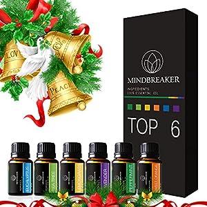 Aceites Esenciales aromaterapia Set incluye parte superior 6 Set de regalo: lavanda, Naranja Dulce, menta, árbol de té…
