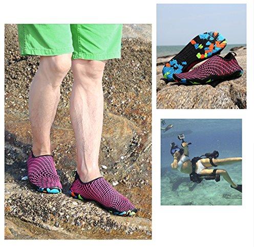 Scarpe Da Spiaggia Ummaid Scarpe Da Nuoto Scarpe Da Surf Scarpe Da Acqua Aqua Scarpe Ad Asciugatura Rapida Con Foro Di Drenaggio Per Donna Uomo Bambini 2.rose Rosso