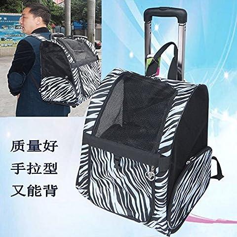 Zaini in pet-asta indietro carrello bagagli fuori i sacchetti di pet cani e gatti pet forniture, Leopard fiore, s-piccolo