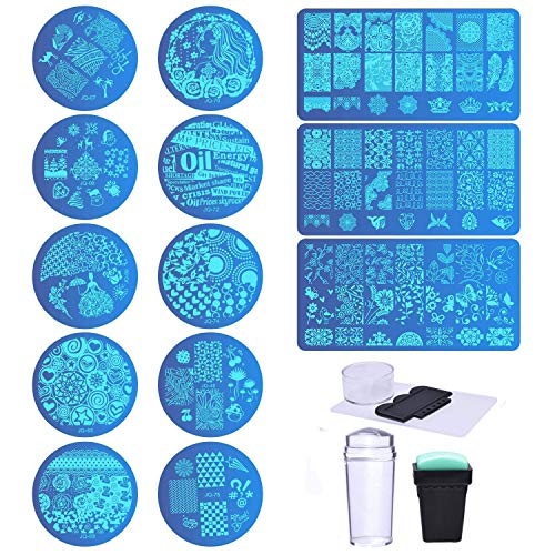 Biutee Set Stamping Nail Art 13 Pcs Placas Estampacion