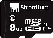 Strontium MicroSD Class 10 8GB Memory Card (Black)