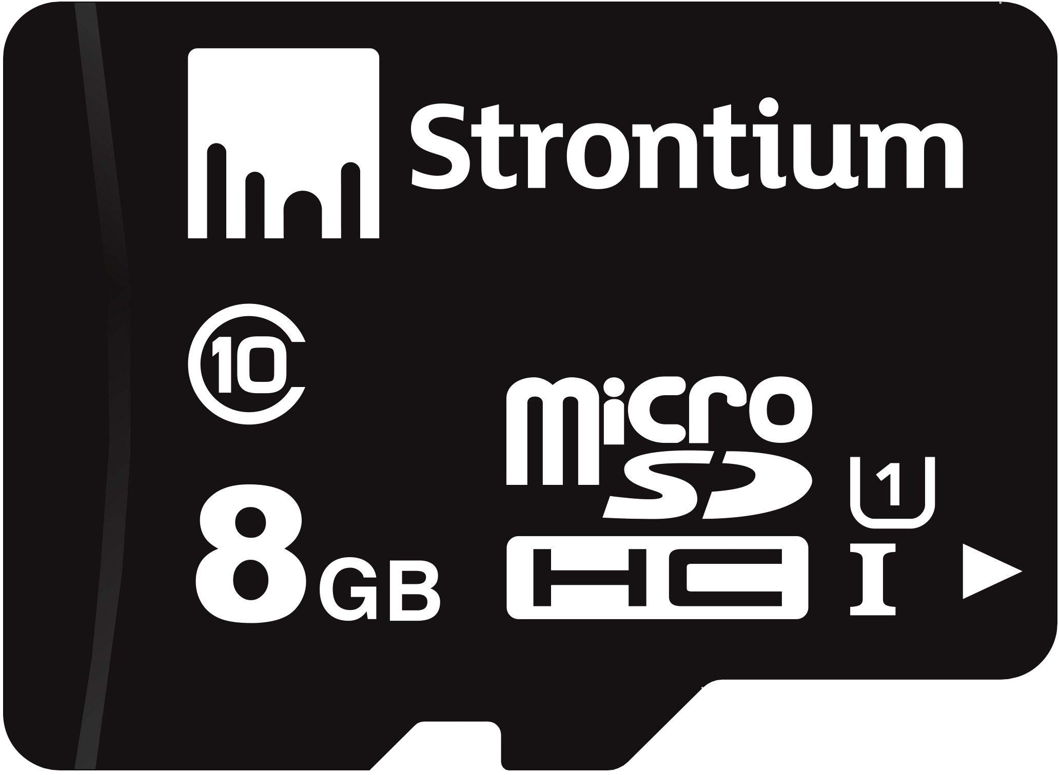 strontium microsd class 10 8gb memory card (black) - 61BZELJaHqL - Strontium MicroSD Class 10 8GB Memory Card (Black)