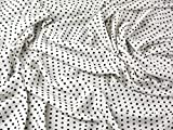 Spanisch Kleine Punkte Stretch Crepe Kleid Stoff schwarz