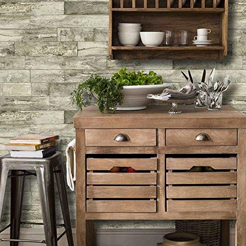 urbanrart Gorgeous Holz Plank Tapete Vinyl non-prepasted Strukturierte Wallcoverings 289601 -