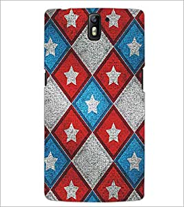 ONE PLUS ONE STAR PATTERN Designer Back Cover Case By PRINTSWAG