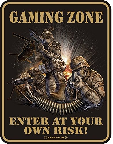 Original sin marco, Cartel de chapa Gaming Zone, Enterprise at Your Own...