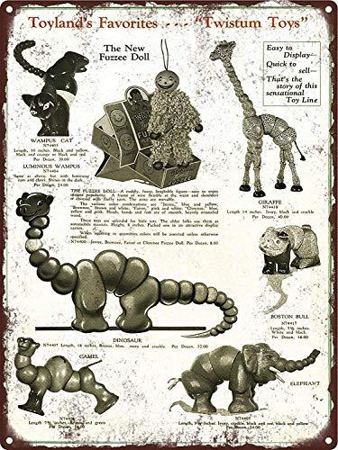 JIA KOAH 1927 Twistum Toys Wampus Black Cat Camel Tiger Giraffe Blechschild Metall dekorative Wand Poster Souvenir